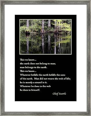 Chief Seattle Framed Print