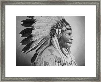 Chief Framed Print by Tim Dangaran