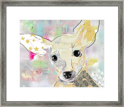 Chihuahua Collage Framed Print