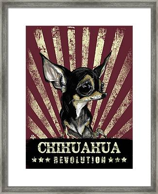 Chihuahua Revolution Framed Print