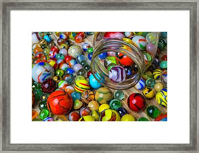 Childhood Marbles Framed Print by Garry Gay