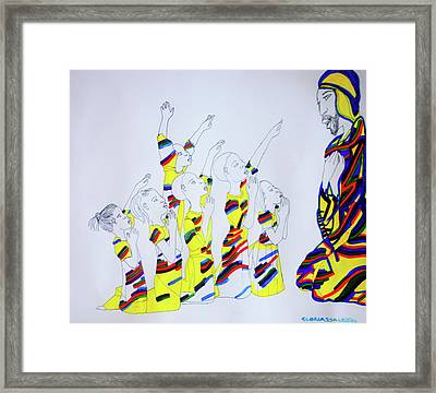 Children Coming To Jesus Framed Print