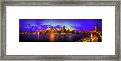Framed Print featuring the photograph Chillin' At Gantry by Theodore Jones