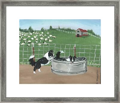Chillin' Framed Print by Sue Ann Thornton