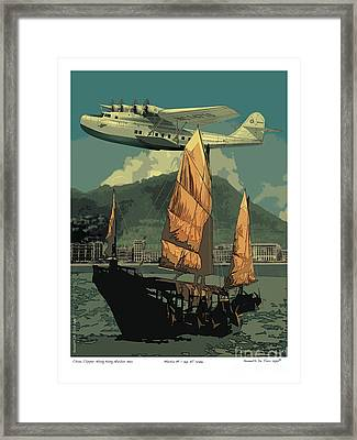 China Clipper Framed Print by Kenneth De Tore