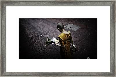 Chinatown Walk Framed Print