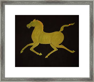 Chinese Horse #2 Framed Print