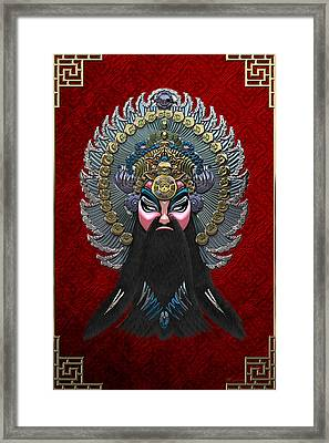 Chinese Masks - Large Masks Series - The Emperor Framed Print by Serge Averbukh