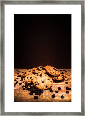 Choc Chip Biscuits Framed Print by Jorgo Photography - Wall Art Gallery