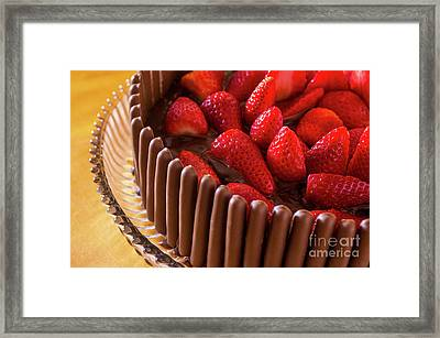 Chocolate And Strawberry Cake Framed Print by Carlos Caetano