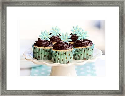 Chocolate Cupcakes Framed Print