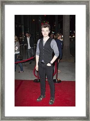 Chris Colfer At Arrivals For American Framed Print by Everett