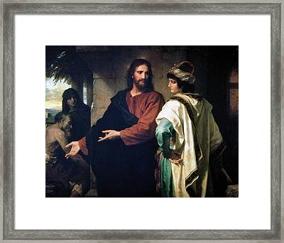 Christ And The Rich Young Ruler Framed Print