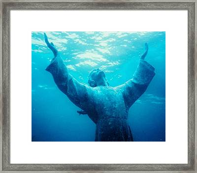 Christ At Sea Framed Print by Renee Shular