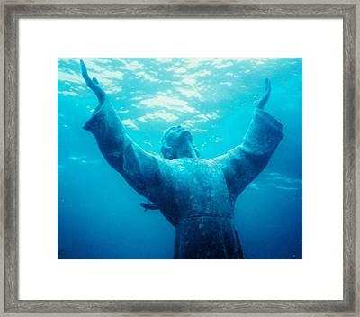 Christ At Sea Framed Print by Joann Shular