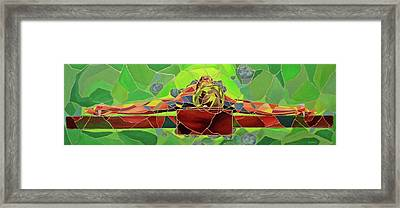 Christ In Stained Glass Framed Print