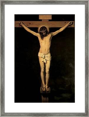 Christ On The Cross Framed Print
