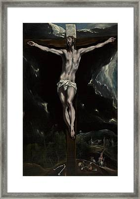 Christ On The Cross Framed Print by El Greco