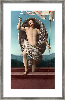 Christ Rising From The Tomb Framed Print by Mountain Dreams