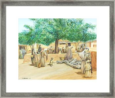 Christ Teaching Framed Print