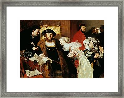 Christian II Signing The Death Warrant Of Torben Oxe Framed Print