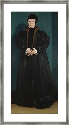 Christina Of Denmark Duchess Of Milan Framed Print