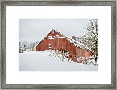 Christmas Barn Framed Print