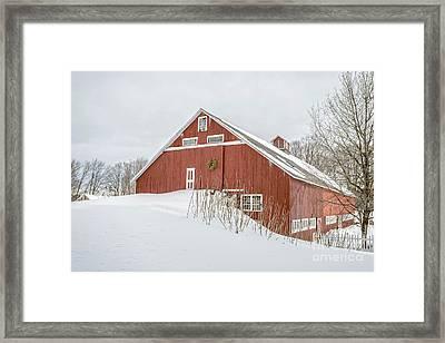 Christmas Barn Framed Print by Edward Fielding