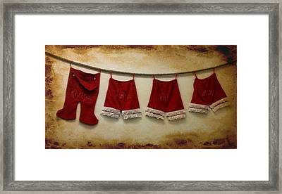 Christmas Britches Framed Print