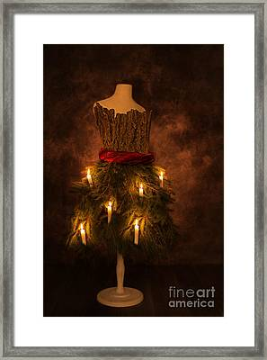 Christmas Candles Framed Print by Amanda Elwell