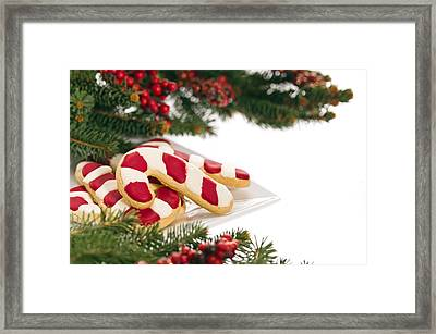 Christmas Cookies Decorated With Real Tree Branches Framed Print