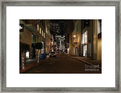 Christmas Eve 2009 On Maiden Lane In San Francisco Framed Print