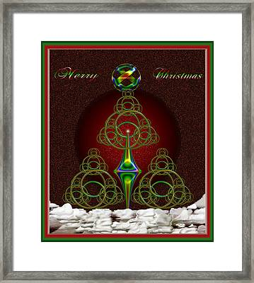 Christmas Greetings Framed Print by Mario Carini