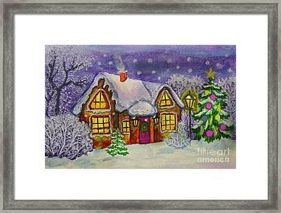 Christmas House, Painting Framed Print