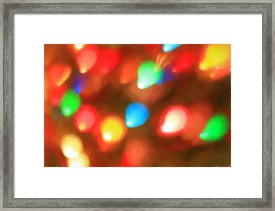 Christmas Lights Framed Print by Dan Sproul