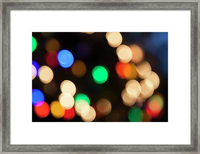 Framed Print featuring the photograph Christmas Lights by Susan Stone
