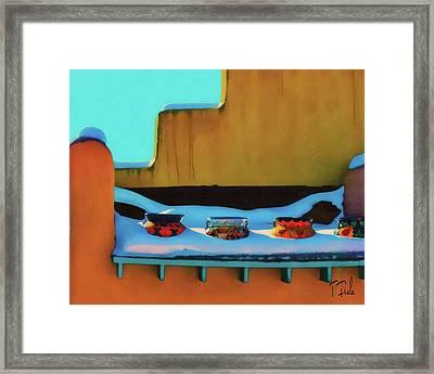 Christmas Morning Taos Framed Print