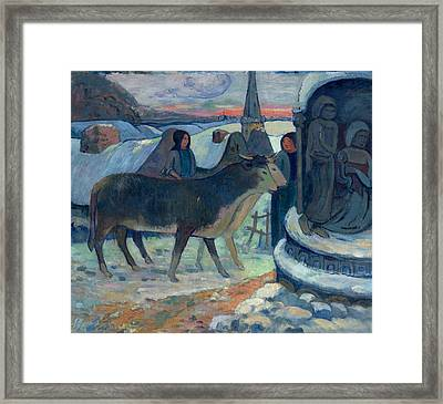 Christmas Night The Blessing Of The Oxen Framed Print