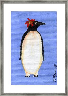 Christmas Penguin One Framed Print
