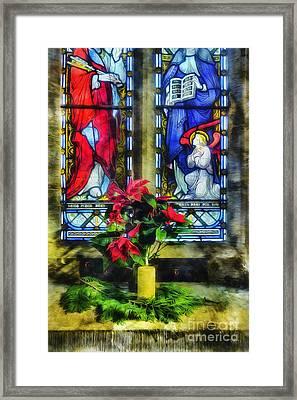 Christmas Poinsettia Framed Print