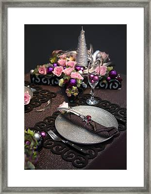 Framed Print featuring the photograph Christmas Table by Ariadna De Raadt