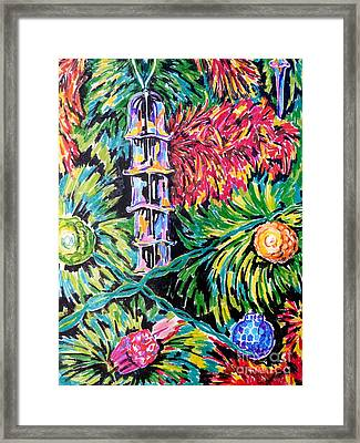 Christmas Tree Framed Print by Debbie  Diamond