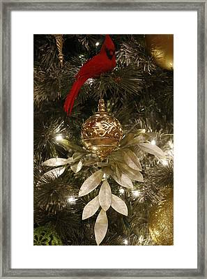 Christmas Tree Decorations Framed Print by American School