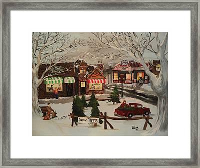 Christmas Village Framed Print by Tim Loughner