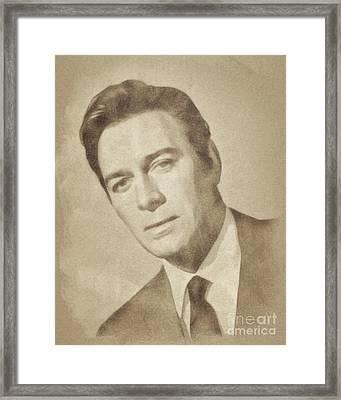 Christopher Plummer, Vintage Actor By John Springfield Framed Print by John Springfield