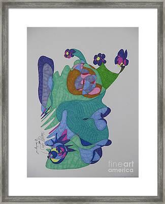 Christy's Jester Framed Print by James SheppardIII