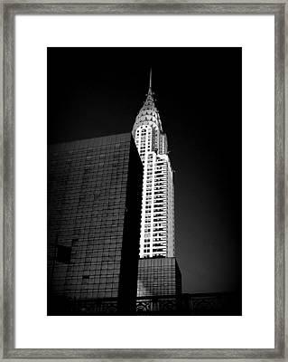 Chrysler Noir Framed Print