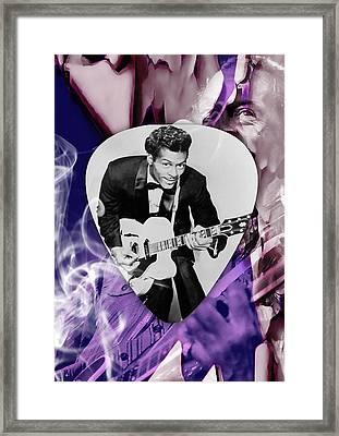 Chuck Berry Art Framed Print