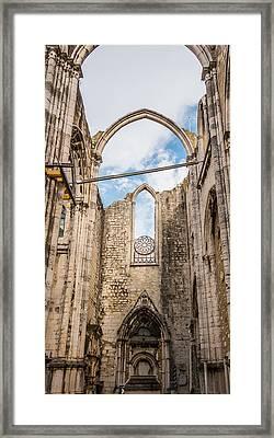 Church At Carmo Convent Framed Print