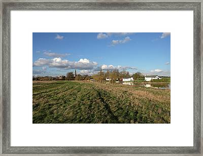 Church By The River Framed Print